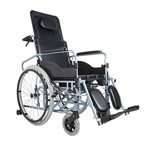 Zelfrijdende rolstoelen, hoge rugleuning rolstoel, 180° volledige lage, afneembare eettafel, met kamerpot