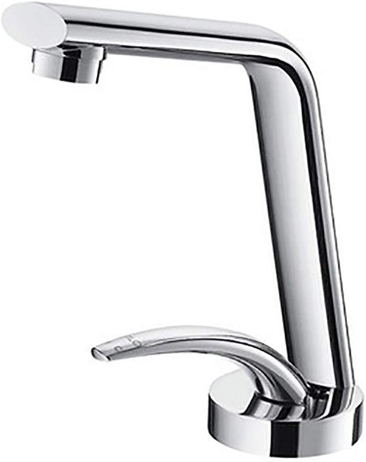 TRNMC Bathroom Sink Faucet Lavatory Basin Mixer Tap Single Lever Handle Brushed Nickel Personality Creative, Photo color