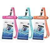 MoKo Waterproof Phone Pouch 3-Pack, Underwater Phone Case