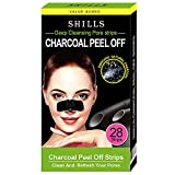 SHILLS Purifying Charcoal Pore Strips, Nose Pore Cleanser, Nose Cleaning, Blackhead Remover, Deep Cleansing, Charcoal Peel-Off Nasal Patch, 28-Count Box