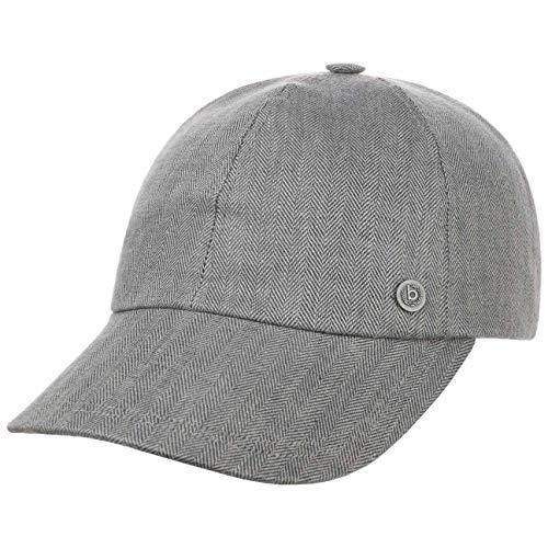 Bugatti Herri Leinen Baseballcap Cap Basecap Sommercap Leinencap Stoffcap (58 cm - grau)