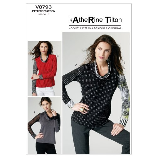VOGUE PATTERNS V8793 - Patrones de Costura para Camisetas de Mujer (Tallas L, XL y XXL)