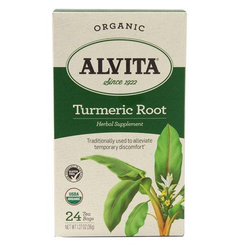 Alvita Organic Herbal Tumeric Tea, 24 Count