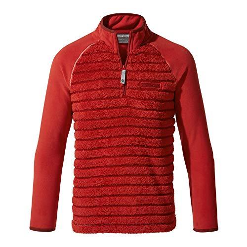 Craghoppers Maddiston Polaire Semi-zippée pour Enfant XL Maple Red