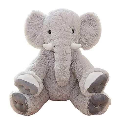 Tickos Kinder Elefant Spielzeug Plüsch Elefant Kissen Kreative Elefant Puppe Home Elefant Ornament, 19.69inch (Grau)
