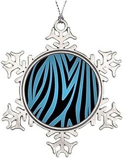 Metal Ornaments Tree Branch Decoration Zebra Snowflake Ornaments Designs
