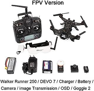 Xiangtat Walkera Runner 250 FPV Drone Racer Modular Design Racing Devo 7 OSD Quadcopter Drone with Hd Camera Goggle 2 Glasses Image Transmission Module (Fpv Version)