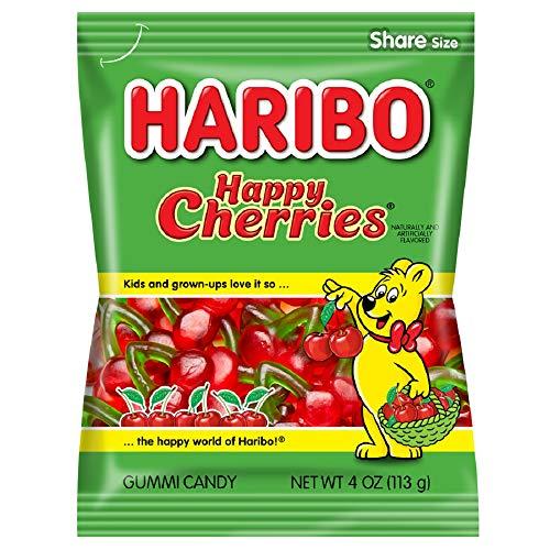 Haribo グミキャンディ、ハッピーチェリー、4オンス(12パック) 4オンス
