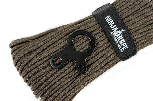 OUTDOOR NINJA NinjaRope - Paracord 550-30m inkl. Seilspanner - (Oliv, 30)