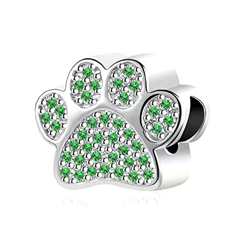 NanMuc Dog Puppy French Bull Dog Paw Prints Charm for Pandöra Bracelets Devoted Dog Bulldog Pets Animal for Women Grandma Sister