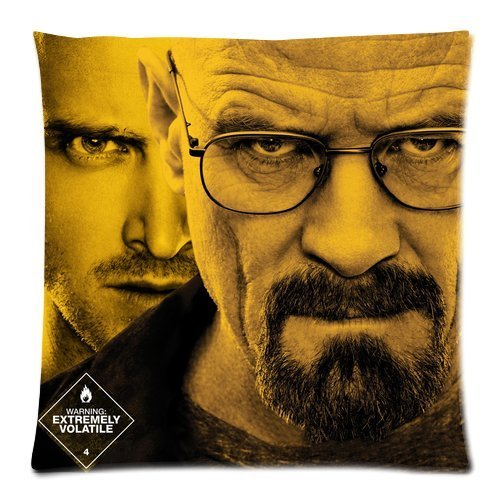 Wholesale Soft Cotton Pillowcase Print Hot TV Series Breaking Bad Picture Printed Decorative Cushion Covers 2 Sides 18 X 18-1