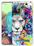 Sunrive Kompatibel mit Asus Zenfone 2 ZE551ML Hülle Silikon, Transparent Handyhülle Schutzhülle Etui Hülle (X Löwe)+Gratis Universal Eingabestift MEHRWEG