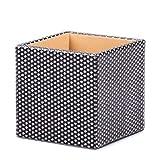 JIAJBG Caja de Almacenamiento de Escritorio Organizador Del Almacenaje de Soporte Cuadrado Titular de la Pluma de Múltiples Funciones Del Cuero/A