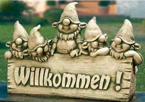 art-decor-keramik Zwerge Willkommen
