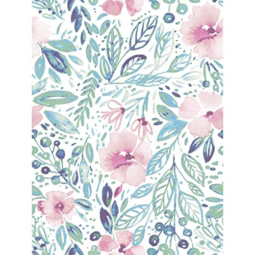 RoomMates Clara Jean April Showers Pink Peel and Stick Wallpaper | Removable Wallpaper | Self Adhesive Floral Wallpaper
