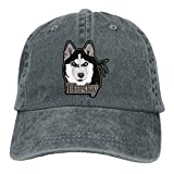 Wdskbg Siberian Husky Dog Denim Hat Adjustable Male Funny Baseball Cap Fashion29