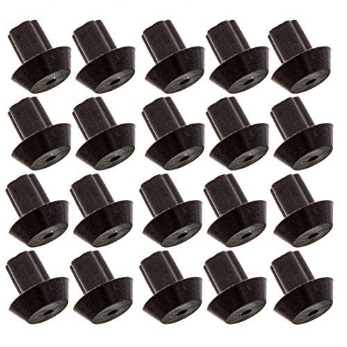 Impresa Products Gummifuß-Stoßfänger für Viking-Serie, hitzebeständiges Material, funktioniert mit vielen Gasherd-Brenner-Grillrosten, entspricht PD040035 Fuß, 20 Stück