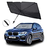 """Car Windshield Sunshade/Cover, 31""""x52"""" Foldable Unbrella Sunshade for Car Front Windshield, Reflective UV Rays Blocking, Keep Car Cool, Fit Most Cars, Vehicles, SUVs, Automotive Interior Protection"""