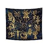 YongFoto 220x190cm Constelaciones Tapiz, Zodíaco Tapices Constelación Sol Luna Astronomía Tarot Tarjeta Tapiz por Adivinación Habitación Residencia Universitaria Decoración Sofá Cubrir Alfombra