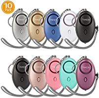 Personal Alarm for Women, 10 Pack 140DB Emergency Self-Defense Security Alarm Keychain with LED Light for Women Kids and...