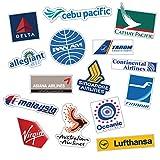 STICKERBOOM 航空会社のステッカープレミアムウォーター&UVレイズ耐ステイン無料ノートパソコンの荷物15PCS(エアライン#B_15 PCS)のための旅行スーツケースデカールステッカー 航空会社 # B_15 PC [並行輸入品]