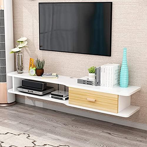 Gabinete de TV Flotante Montaje en Pared Consola Multimedia Muebles Soporte para TV Soporte Consola Reproductor Caja de Cable Altavoz