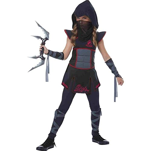 11dd80e88 California Fancy dress costumes Womens Girls Black Ninja Fancy dress costume  Small