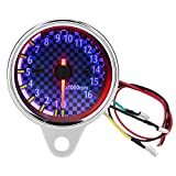 Contagiri per motocicli Retroilluminazione a LED 0-16000rpm / min Contagiri digitale RPM Calibro universale per motociclo DC 12V