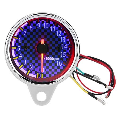 Motorrad Drehzahlmesser LED Hintergrundbeleuchtung 0-16000 U / min Digitale Drehzahlmesser Drehzahlmesser Universal für DC 12 V Motorrad