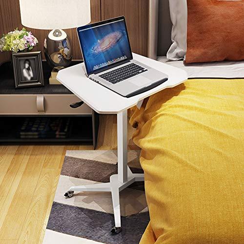 LAA Mesa auxiliar portátil con altura ajustable para ordenador o para entrenamiento en aula, color blanco