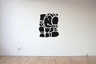 Rawpockets 'Ganapati Bapa' Wall Sticker (PVC Vinyl, 48 cm x 58cm, Black)