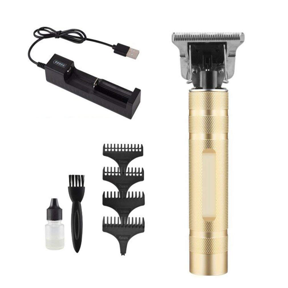 Feeker Tondeuse à Cheveux Electrique Tondeuse à Barbe Professionnelle pour Hommes Tondeuse à cheveux sans fil,Étanche et réduction du bruitPortable et sûrDifférents styles, en option (USB Or)