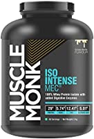 MuscleMonk ISO INTENSE MEC 100% Whey Isolate Protein with Digestive Enzymes, No Added Sugar