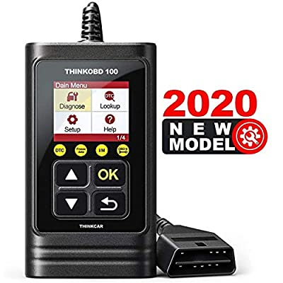 thinkcar Code Reader, Full OBD2/EOBD Scanner, THINKOBD 100 Check Engine Light Code Reader with 10 OBD2 Modes-Black by thinkcar