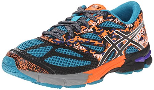 ASICS Gel Noosa Tri 10 GS Triathlon Shoe (Little Kid/Big Kid), Enamel Blue/Black/Orange, 1 M US Little Kid