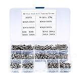 400 piezas Tornillos autorroscantes M3, Tornillos avellanados, Tornillos para madera, Surtido tornillos autoperforantes para tablero partículas Tablero de yeso, metal - M3x (6/8/10/12/16/20/25/30mm)