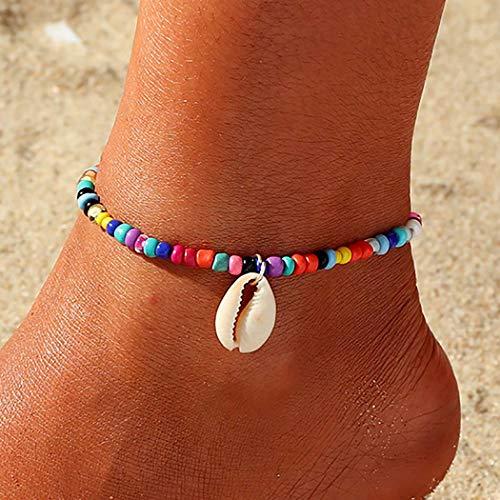 Zoestar Tobillera bohemia con cuentas de playa para mujeres y niñas