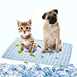 Dog Cooling Mat Pet Self Cooling Sleep Pad Washable Ice Silk Blanket for Kennel/Sofa/Car Seat/Bed/Floor
