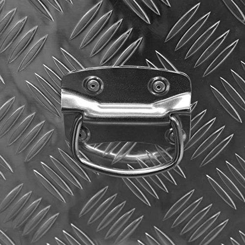 Alukiste Pick-Up Box Ladeflächenkiste Werkzeugkiste Alubox Deichselbox Staubox Anhängerkiste Gurtkiste - 3