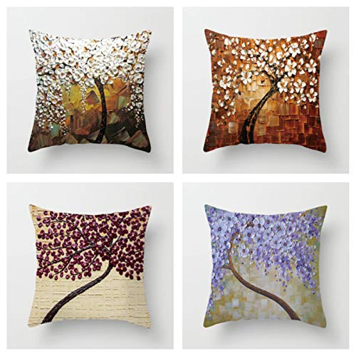 Oil Painting 45 * 45Cm Cushion Cover Polyester Sofa Throw Pillow Car Home Decoration Decorative Pillowcase No.5