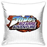 fall Jojos Bizarre Adventure Logos Pillows Cases Covers Decorative Home Sofa Bed Standard Square Throw Pillowcase Protectors Zipper Fundas para Almohada 18x18Inch(45cmx45cm)