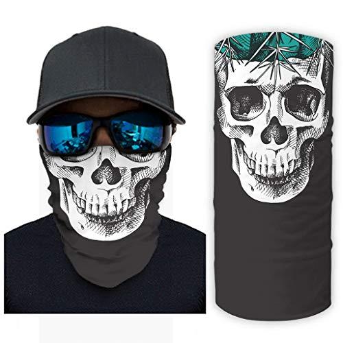 Bestwe - Máscara facial para festivales de música, equitación, equitación, exterior, 12 en 1, para hombre y mujer, blanco, talla única