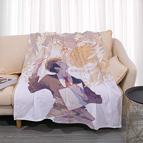 GUANGZHENG Il tuo Lie in April Serie Miyazono Kaori Baci Arima Kousei Pattern/Anime Blanket Personaggio/Facile da trasportare e Clean/Single-Sided Stampa Digitale/Adatto for Adulti e Bambini,