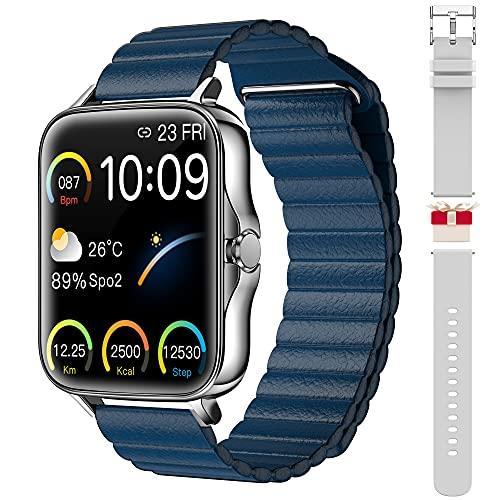 Smartwatches für Herren Damen 1,69-Zoll Touchscreen Fitness Smartwatch Tracker IP68 wasserdichte Tracker-Uhr mit Pulsuhr und Schlafmonitor, Schrittzähler Sport Laufuhr für Android und iOS