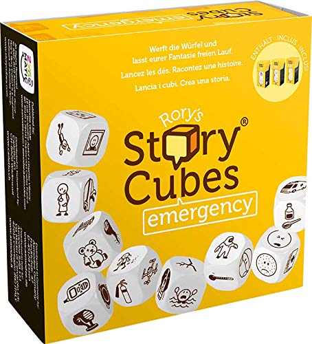 Asmodee Italia- Rory's Story Cubes Emergency (gelb) Tafelspiel, Color, 8086