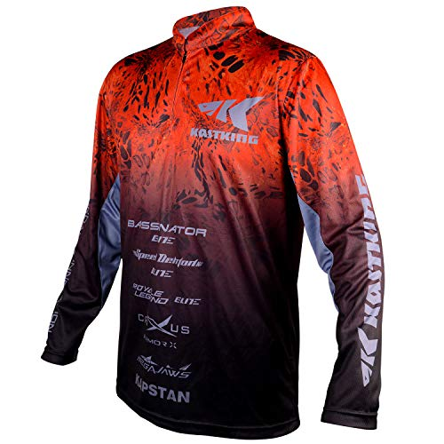 KastKing Professional Fishing Jersey - UPF 50 Long Sleeve Fishing Shirts - Sun Protection, Breathable, Quick Dry, Comfortable Jersey for Men and Women(X-Large)