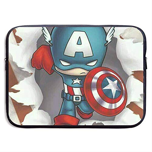 Laptop Schutzhülle Captain America mit Usa Flagge Notebook Tablet Tasche Hülle Kompatibel Notebook 15 Zoll