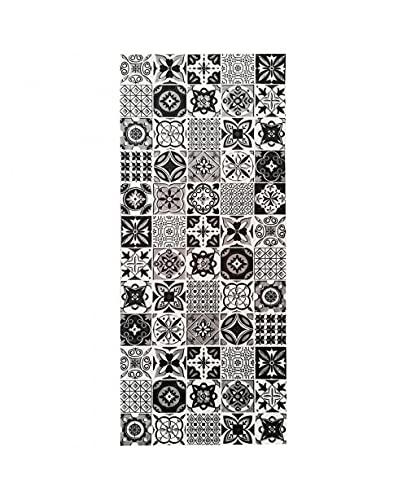 MANI TEXTILE TPS_TREN_Bla_60 Tapis, Polyester, Noir, 60 x 90 (60 x 90)