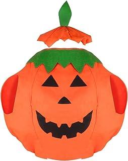 Säugling Kinder Jungen Mädchen Kürbis Cosplay Kostüm Karneval Halloween Hut Set