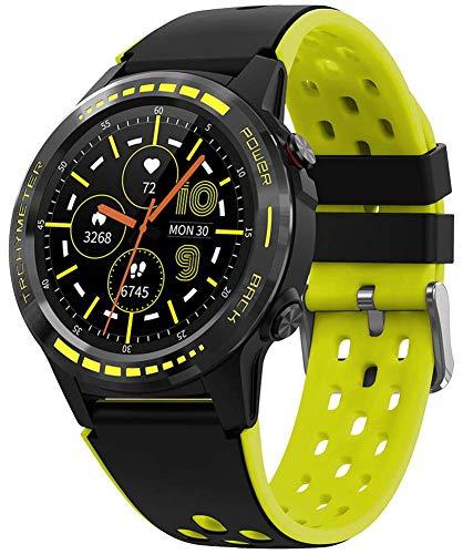 X&Z-XAOY Reloj Inteligente con GPS para Hombre Rastreador De Actividad Deportiva Reloj De Pulsera Pulsera De Brújula Fitnesstracker Impermeable Bandas De Smartwatch (Color : Yellow)
